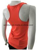 Chaleco fluorescente feminino para fitness com forro de malha
