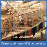 Настроенные на заводе производства из нержавеющей стали со стеклянными лестницами поручень