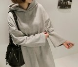 2018 New Wholesale Simple Loose Fashion Hoody Sweater Female Dress