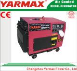 Elektrische Diesel van het Begin Geluiddichte 5kVA Generator