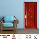 Diseño de madera de la puerta de la chapa interior moderna (GSP8-019)
