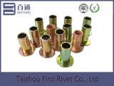 10x20mm zinc / cobre plateado de cabeza plana completa tubular de acero del remache