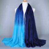 Frauen-heißer stempelnder dünner Polyester-Schal mit entwürdigender Farbe (H14)