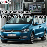 Surface adjacente de vue arrière et de panorama 360 pour la portée de Volkswagen Sharan Tiguan Skoda etc. avec l'écran de moulage d'entrée de signal de système Lvds RVB de Mqb