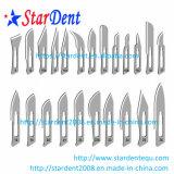 Lâminas cirúrgicas dentárias de aço inoxidável descartáveis médicas