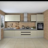 Type linéaire léger Modules de Champagne de cuisine en bois d'éléments de cuisine