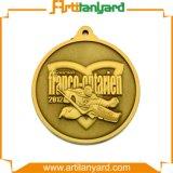 リボンが付いているカスタマイズされた相違の骨董品のめっきメダル