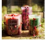 La fragancia de Aroma Pilar de cera de velas, velas de parafina