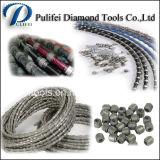 A corda de fio do diamante considerou para o fio de pedra da estaca considerou grânulos