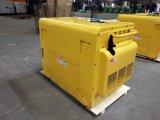 Jogos Diesel de refrigeração ar de Genarator da fase monofásica de AC220V/DC12V 6kw
