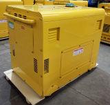 AC220V/DC12V 6KW resfriado a ar Monofásico Conjuntos Genarator Diesel