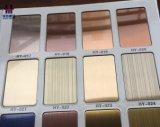 Plaque décorative de placage de qualité de couleur titanique d'acier inoxydable
