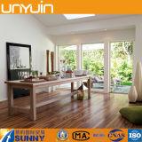 Azulejo de suelo de madera auto-adhesivo usado hogar del vinilo del PVC