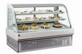 Showcase aberto do bolo da parte dianteira quente da venda com CE
