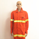 Jaune Reflective Tape Safety Uniform Orange Workwear avec bande magnétique