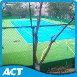 라임 그린색 테니스 인공적인 잔디 표준 크기 필드