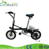 Roda de alumínio Integrated de dobramento da E-Bicicleta 14inch do aço de carbono
