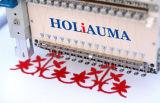 Máquina principal industrial del bordado del ordenador de las agujas 4 de Holiauma 15 con la función multi de alta velocidad de la máquina del bordado del casquillo
