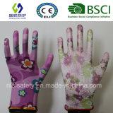 13G de Pu Met een laag bedekte Handschoen van het Werk van de Tuin (SL-g-PU2011)