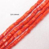9-16mm Naranja Rojo Coral Strand cordones de forma libre
