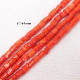 9-16mm Naranja Rojo granos del coral de forma libre Strand