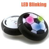 Clignotement du témoin à LED Hot drôle d'arrivée de la puissance aérienne ballon de soccer disque Jouet de football en salle dans la case Multi-Surface Hovering Jouet de vol à voile