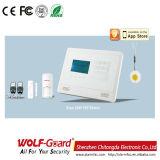 Alarma de seguridad doméstica sin hilos del telclado numérico del tacto de GSM