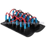 Сделайте панель водостотьким 6 перекидных переключателей шатии Splashproof СИД при перегрузка защищенная для шины RV шлюпки 12V/24V морской
