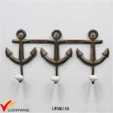 Крюки стены металла сбор винограда Seashell Handmade декоративные