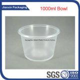 Раунда одноразовой пластиковой салат чашу продовольственной чашу с крышкой