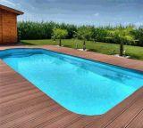 Hölzerne zusammengesetzte Plattform-Plastikfliese für Swimmingpool