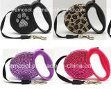 Fashionable Reshinestone Capota Dog Leash Colares de Pet & Cordinhas