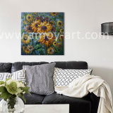 Home Decorationのための伸ばされたHeavy Oil日曜日Flower Oil Paintings