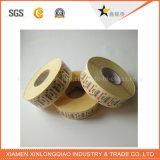 Impreso de plástico de papel impermeable etiqueta personalizada para mascotas impresión de etiqueta transparente