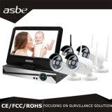 """videocamera di sicurezza senza fili del CCTV del kit di IR P2p NVR di schiera del richiamo 4CH con """" video 10"""