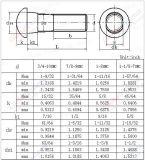Aço de carbono Galvanzied ASME B18.10 Perna de pista