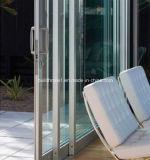 Balcão do peitoril de uma superfície plana que desliza as portas de alumínio