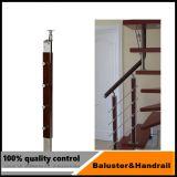 Corrimão de vidro temperado Varanda escada / Corrimão de vidro para escadas em aço inoxidável