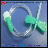 Cateter descartável com porta de injeção de guarda-lamas 16G para coleta de sangue da veia do couro cabeludo/Conjunto de infusão