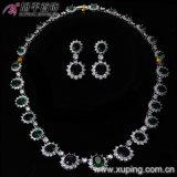 Rhodium van het Ontwerp van Lastest de Reeksen van het Huwelijk van de Juwelen van Zircon van de Manier van de Kleur (62949)