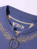 Signora Embroidered Jacket con il piccolo rivestimento