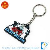 싼 가격에 공급 고무 PVC Keychain/플라스틱 Keychain 또는 판지 Keychain