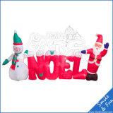 Pupazzo di neve gonfiabile personalizzato per la decorazione di natale
