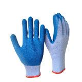 Crinkle латекса пряжи 21s покрыл логос напечатанный перчатками