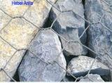 Niedriger Preis-Schwarz-Eisen-Draht sechseckiger Gabion Kasten mit (CER und SGS)
