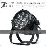 12X12 와트 옥외 LED 세척 선잠기 건물 전등 설비