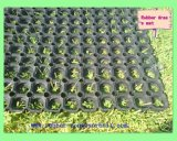 2017 couvre-tapis en caoutchouc d'herbe artificielle extérieure de cour de jeu/anti caoutchouc de cavité de glissade