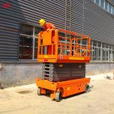 Elevador de tijera autopropulsada Auto elevador de tijera de antena de la plataforma de trabajo, el hombre la elevación baja el precio de venta