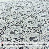 Venta al por mayor nupcial de marfil del cordón de la tela de algodón (M3406-G)