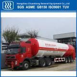 Almacenamiento de gas líquido criogénico horizontal transporte semi remolque cisterna
